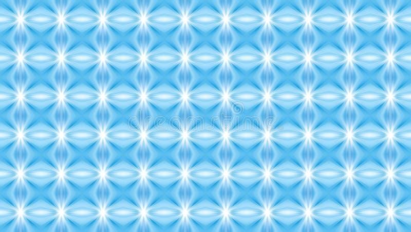 Γεωμετρική άνευ ραφής χειμερινή ζωηρή διακόσμηση στο μπλε και white_ απεικόνιση αποθεμάτων