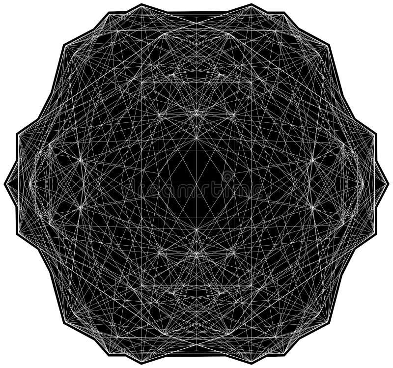 Γεωμετρική απεικόνιση κατασκευών δομών γραμμών καλωδίων απεικόνιση αποθεμάτων
