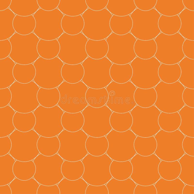 γεωμετρική διακόσμηση Πορτοκαλί και άσπρο άνευ ραφής σχέδιο διανυσματική απεικόνιση