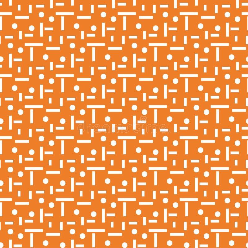 γεωμετρική διακόσμηση Πορτοκαλί και άσπρο άνευ ραφής σχέδιο ελεύθερη απεικόνιση δικαιώματος