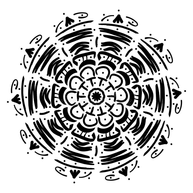 Γεωμετρική διακόσμηση Mandala απεικόνιση αποθεμάτων