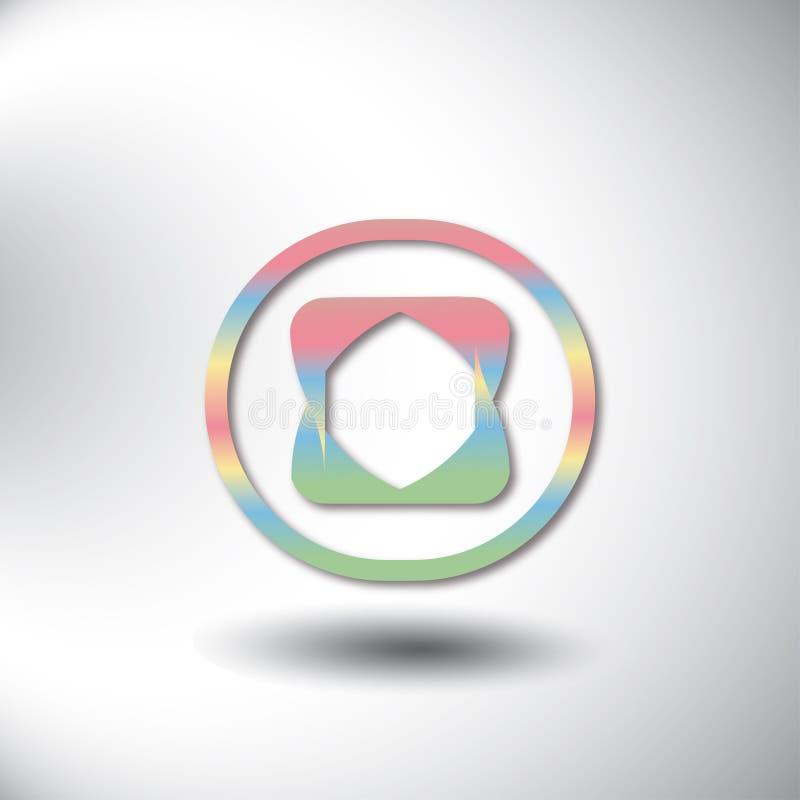 Γεωμετρική ιδέα σύγκλισης σχεδίου λογότυπων, σύγχρονη σύνθεση των αφηρημένων μορφών χρώματος ελεύθερη απεικόνιση δικαιώματος