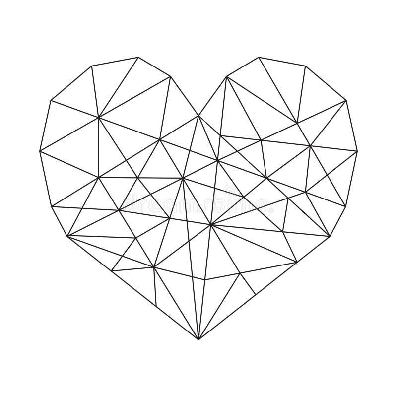 γεωμετρική καρδιά ελεύθερη απεικόνιση δικαιώματος
