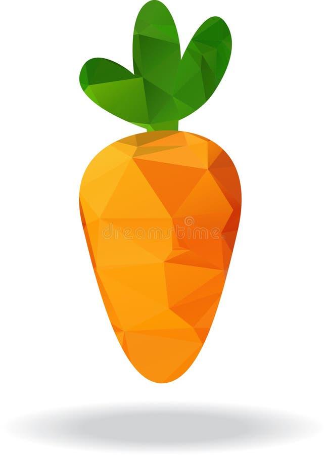 Γεωμετρική πορτοκαλιά διανυσματική απεικόνιση καρότων απεικόνιση αποθεμάτων