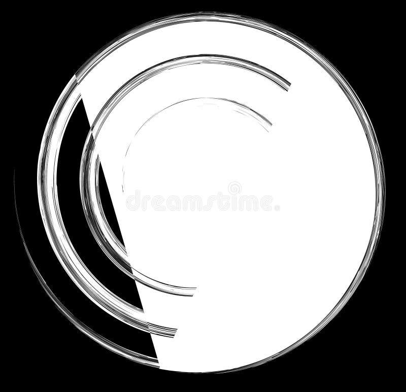 Γεωμετρική σπειροειδής σειρά στοιχείων Αφηρημένος στρόβιλος, twirl γραφική παράσταση διανυσματική απεικόνιση