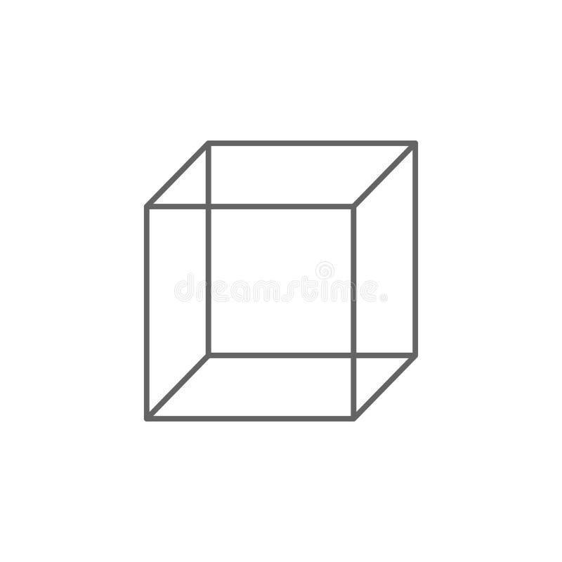 Γεωμετρικοί αριθμοί, εικονίδιο περιλήψεων κύβων Στοιχεία του γεωμετρικού εικονιδίου απεικόνισης αριθμών Τα σημάδια και τα σύμβολα ελεύθερη απεικόνιση δικαιώματος