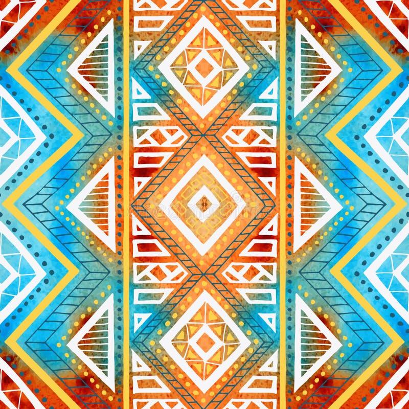 γεωμετρικός άνευ ραφής α&nu Σύσταση watercolor Grunge ελεύθερη απεικόνιση δικαιώματος