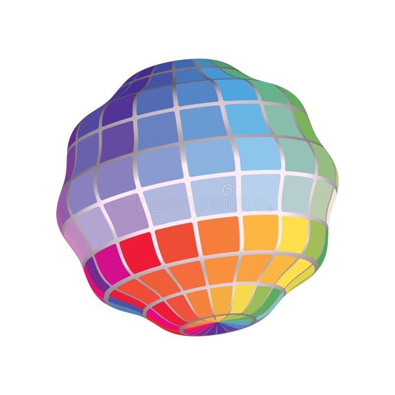 Γεωμετρικός τρισδιάστατος δίνει το αφηρημένο φάσμα αντικειμένου το ζωηρόχρωμο υπόβαθρο Illustration_1_1 διαγραμμάτων διανυσματική απεικόνιση