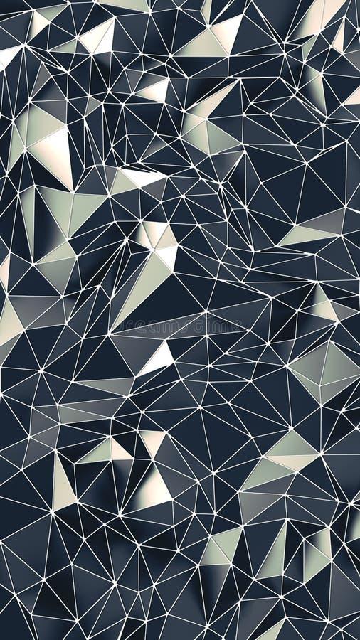 Γεωμετρικός χαμηλός πολυ γραφικός επαναλαμβάνει Σχέδιο που γίνεται από τις τριγωνικές απόψεις r απεικόνιση αποθεμάτων