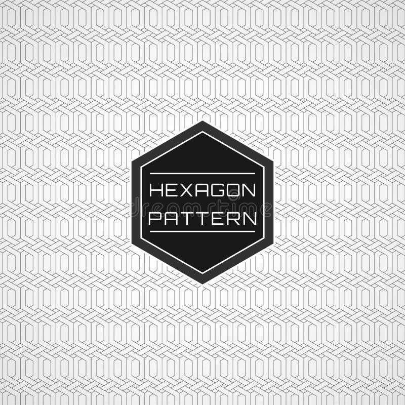 Γεωμετρικό άνευ ραφής γραμμών υπόβαθρο σχεδίων τέχνης Hexagon 02 ελεύθερη απεικόνιση δικαιώματος