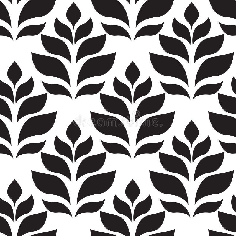 γεωμετρικό άνευ ραφής διάνυσμα προτύπων Σύγχρονος floral, σύσταση φύλλων διανυσματική απεικόνιση