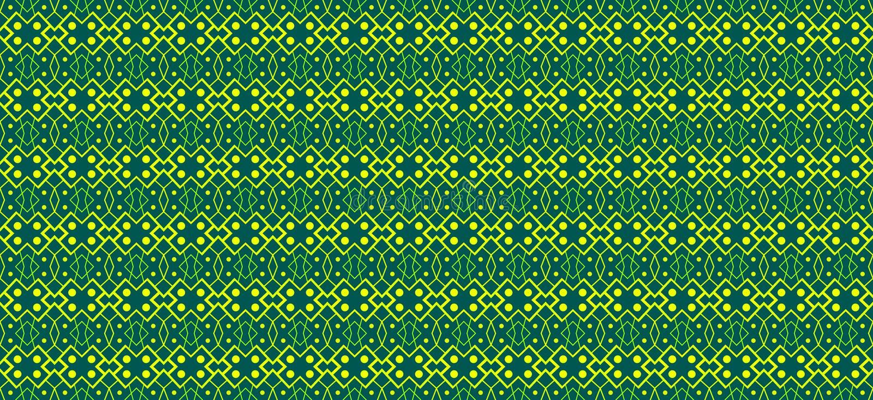 Γεωμετρικό άνευ ραφής σχέδιο με τα αφηρημένα στοιχεία πράσινου και του Υ διανυσματική απεικόνιση