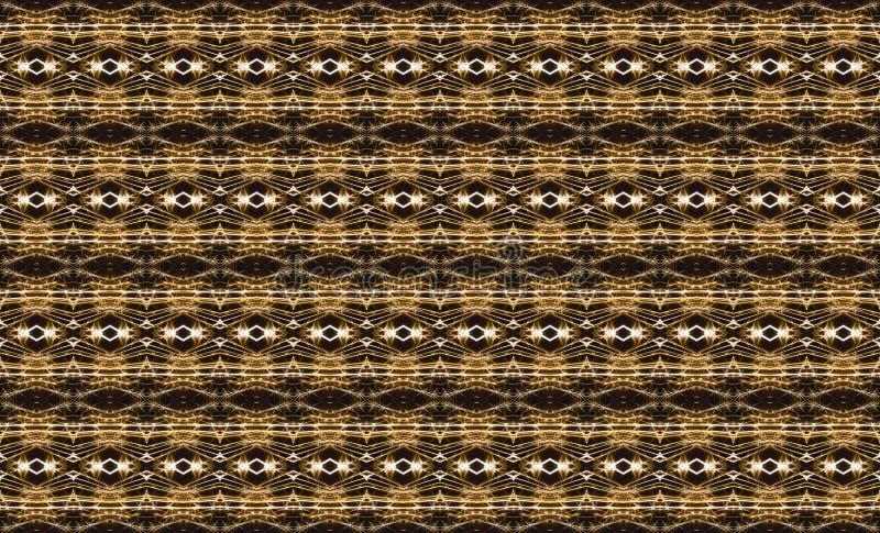 Γεωμετρικό άνευ ραφής σχέδιο με τα μικρά χρυσά στοιχεία στο Μαύρο διανυσματική απεικόνιση