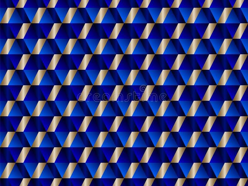 Γεωμετρικό άνευ ραφής σχέδιο με τα υπνωτικά τρίγωνα απεικόνιση αποθεμάτων