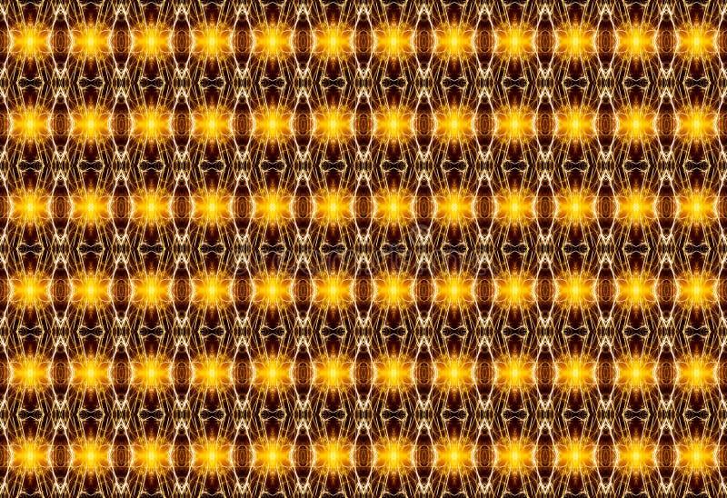 Γεωμετρικό άνευ ραφής σχέδιο με τα χρυσά στοιχεία φωτεινά, σε ένα β ελεύθερη απεικόνιση δικαιώματος