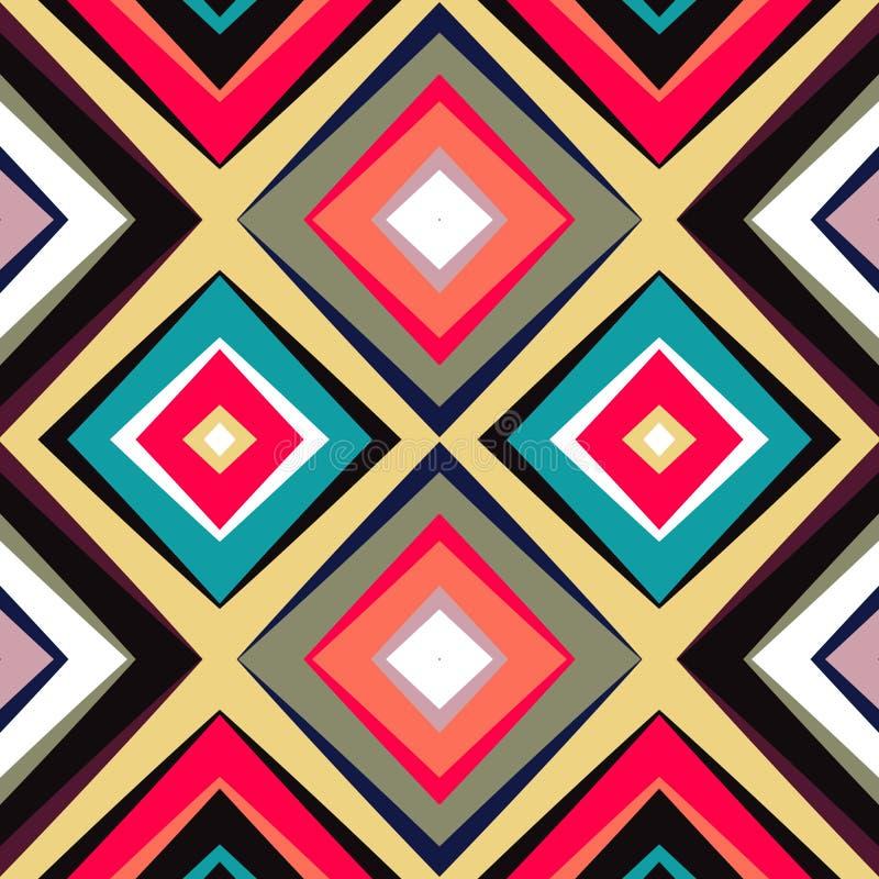 Γεωμετρικό άνευ ραφής σχέδιο ουράνιων τόξων Απλό κανονικό υπόβαθρο φάσματος χρώματος απεικόνιση αποθεμάτων