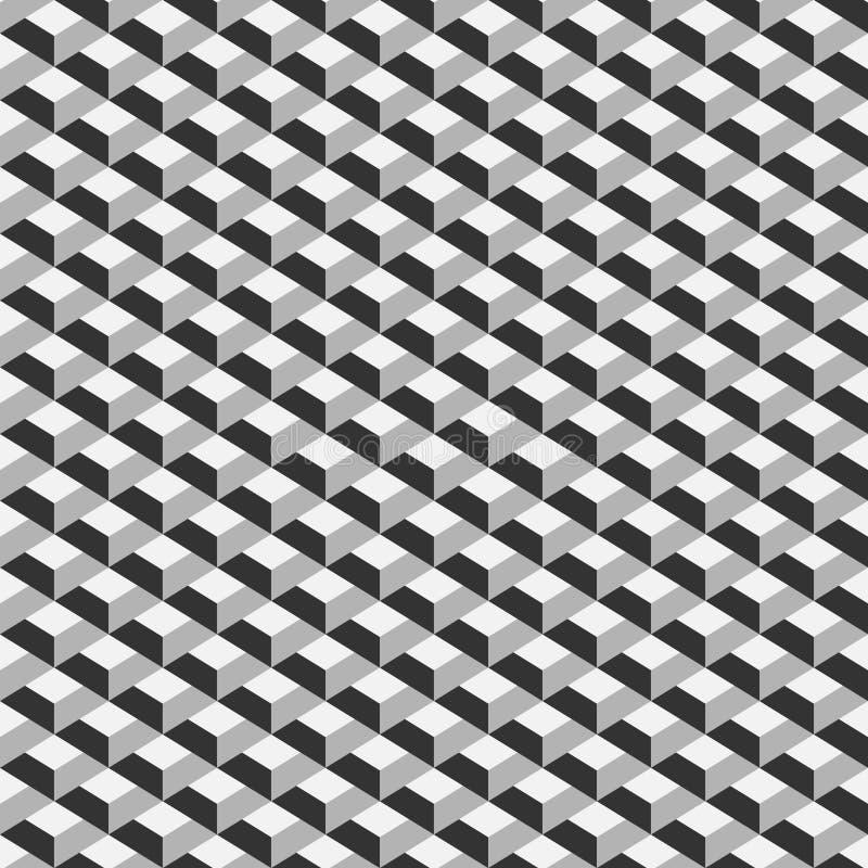 Γεωμετρικό άνευ ραφής σχέδιο κύβων Γραφικό σχέδιο μόδας επίσης corel σύρετε το διάνυσμα απεικόνισης Σχέδιο ανασκόπησης Οπτική παρ διανυσματική απεικόνιση