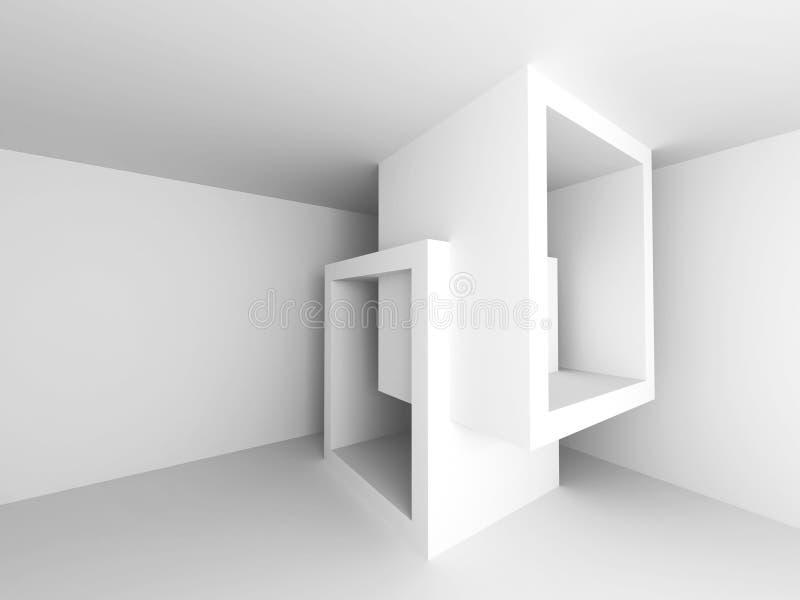 Γεωμετρικό άσπρο αφηρημένο υπόβαθρο αρχιτεκτονικής απεικόνιση αποθεμάτων