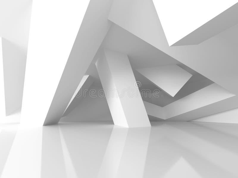 Γεωμετρικό άσπρο υπόβαθρο σύγχρονου σχεδίου αρχιτεκτονικής απεικόνιση αποθεμάτων