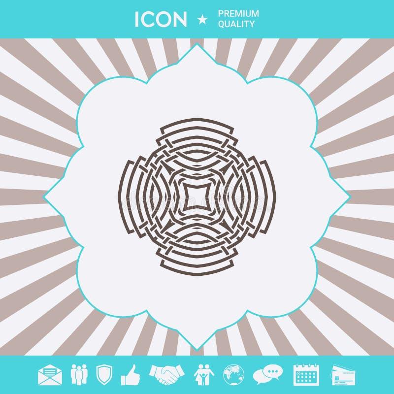 Γεωμετρικό αραβικό σχέδιο Στοιχείο λογότυπων για το σχέδιό σας στοκ φωτογραφίες