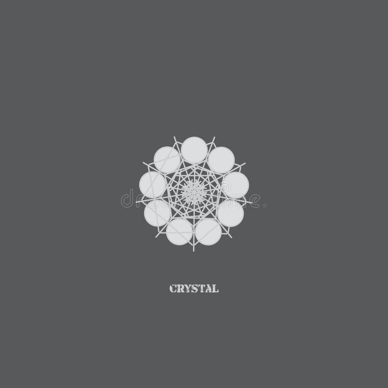 Γεωμετρικό αρχικό σχέδιο λογότυπων διανυσματική απεικόνιση