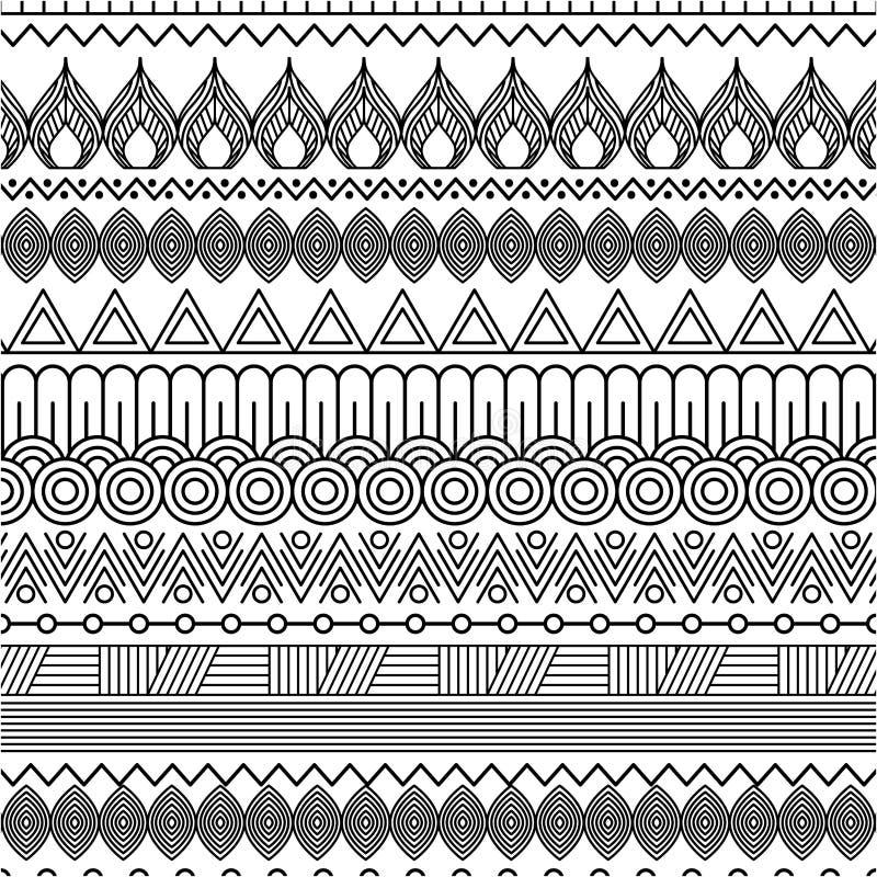 Γεωμετρικό αφηρημένο εθνικό ασιατικό άνευ ραφής σχέδιο παραδοσιακό ελεύθερη απεικόνιση δικαιώματος