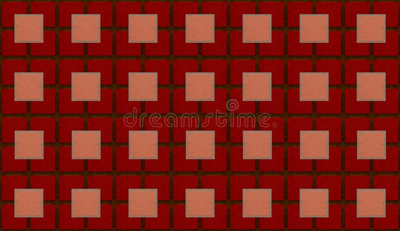 Γεωμετρικό αφηρημένο σκούρο κόκκινο κεραμίδι σύστασης υποβάθρου τετραγωνικό διανυσματική απεικόνιση