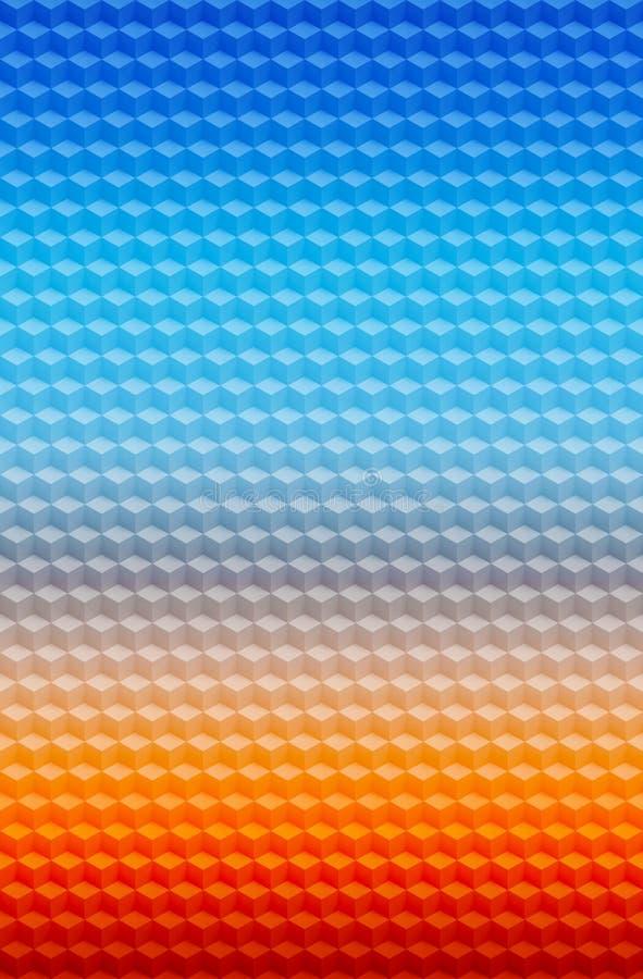 Γεωμετρικό αφηρημένο υπόβαθρο σχεδίων κύβων τρισδιάστατο, γραφικός άνευ ραφής διανυσματική απεικόνιση