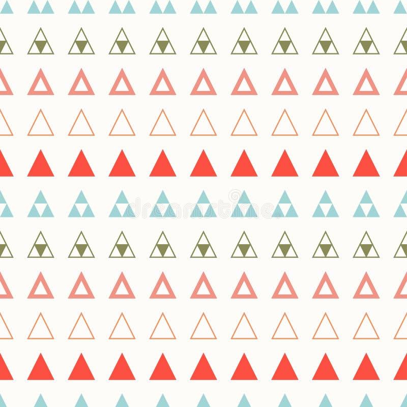 Γεωμετρικό γραμμών άνευ ραφής σχέδιο hipster χρώματος αφηρημένο με το τρίγωνο ποτών απεικόνισης διανυσματικό τύλιγμα θέματος εγγρ διανυσματική απεικόνιση