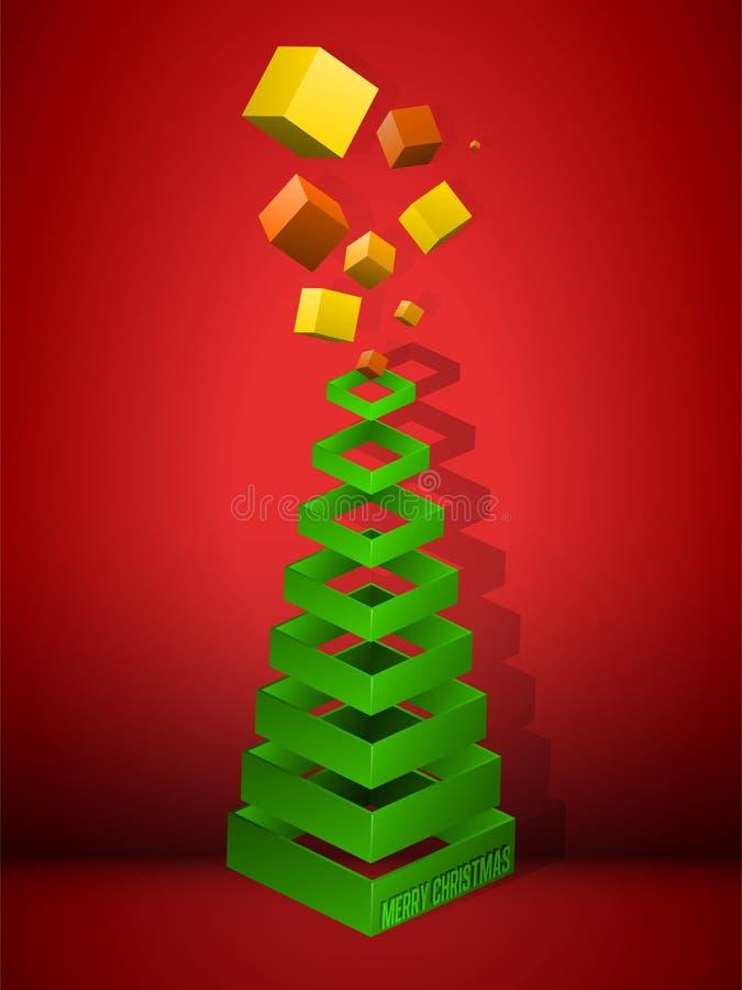 γεωμετρικό δέντρο πυραμίδ διανυσματική απεικόνιση