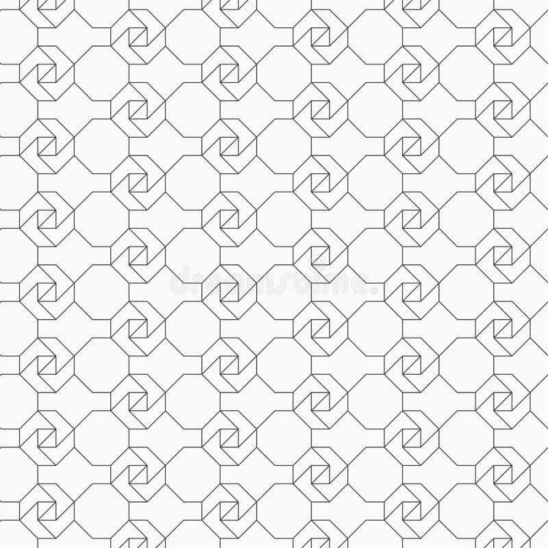 Γεωμετρικό διανυσματικό σχέδιο για τα φανταστικά σχέδια κεντητικής, που επαναλαμβάνουν με το γραμμικό αφηρημένο λουλούδι γραφικός απεικόνιση αποθεμάτων