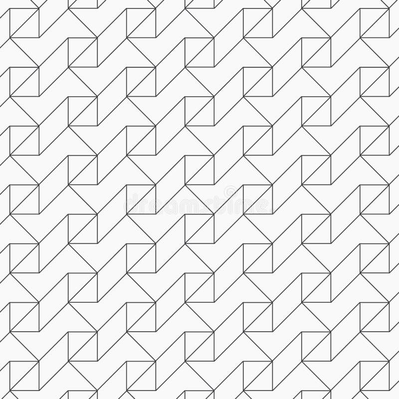 Γεωμετρικό διανυσματικό σχέδιο για τα φανταστικά σχέδια κεντητικής, που επαναλαμβάνουν με γραμμικός και τετραγωνικός γραφικός καθ απεικόνιση αποθεμάτων