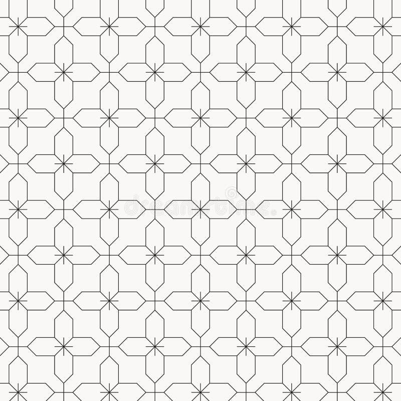 Γεωμετρικό διανυσματικό σχέδιο για τα φανταστικά σχέδια κεντητικής, που επαναλαμβάνουν με το γραμμικό αφηρημένο λουλούδι γραφικός διανυσματική απεικόνιση