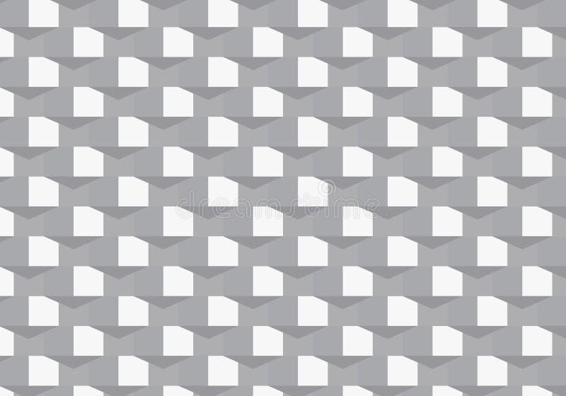 Γεωμετρικό διανυσματικό σχέδιο, που επαναλαμβάνει την τετραγωνική μορφή με το αφηρημένο τρίγωνο σκιών γραφικός καθαρός για το ύφα ελεύθερη απεικόνιση δικαιώματος