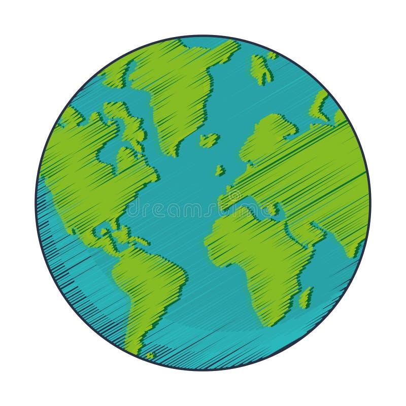 γεωμετρικό εικονίδιο γήινων σφαιρών σύστασης ελεύθερη απεικόνιση δικαιώματος