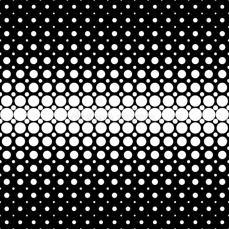 Γεωμετρικό ημίτονο υπόβαθρο σχεδίων σημείων - διανυσματικός γραφικός από τους κύκλους στο μαύρο υπόβαθρο ελεύθερη απεικόνιση δικαιώματος