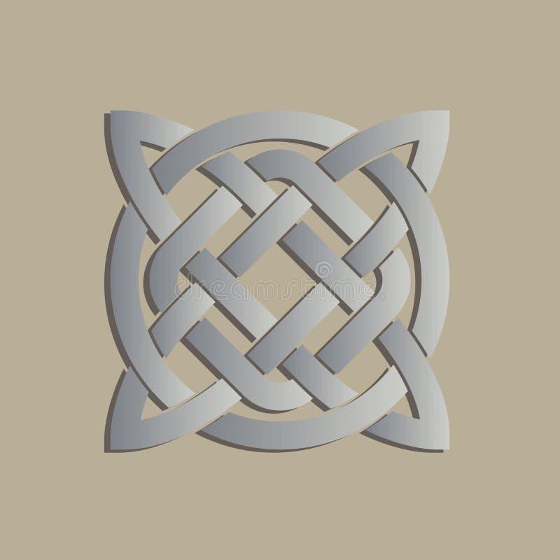 Γεωμετρικό διαγώνιο κελτικό σύμβολο διανυσματική απεικόνιση