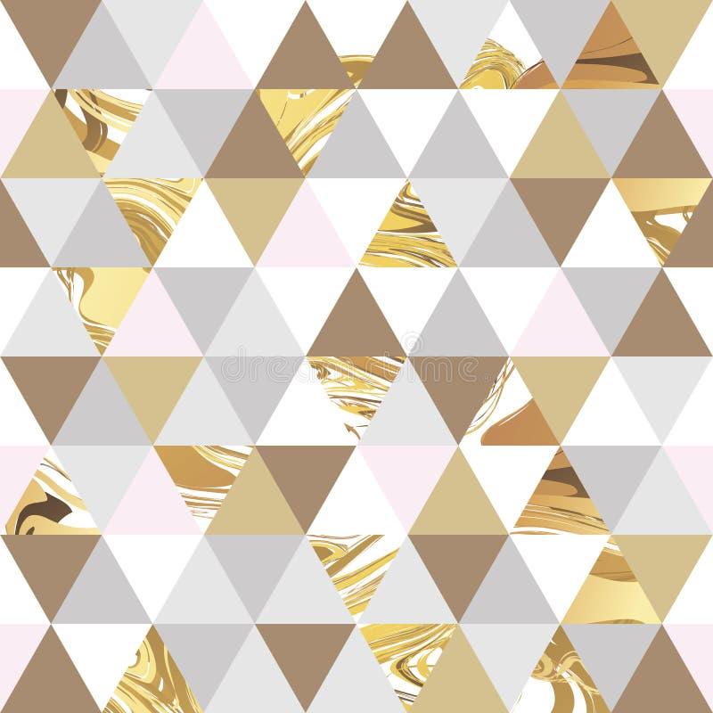Γεωμετρικό μαρμάρινο άνευ ραφής σχέδιο ελεύθερη απεικόνιση δικαιώματος