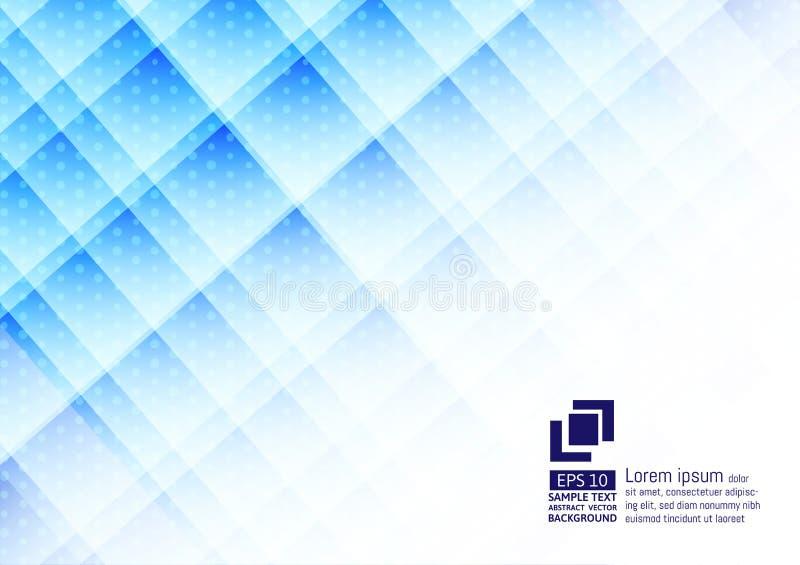 Γεωμετρικό μπλε χρώμα στοιχείων με σύγχρονο σχέδιο υποβάθρου σημείων το αφηρημένο ελεύθερη απεικόνιση δικαιώματος