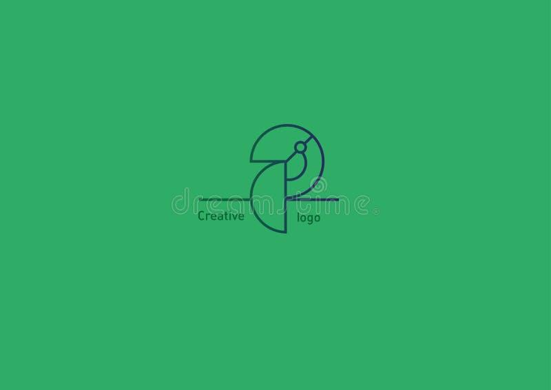 Γεωμετρικό λογότυπο μεγάλο Toucan περιγράμματος ελεύθερη απεικόνιση δικαιώματος
