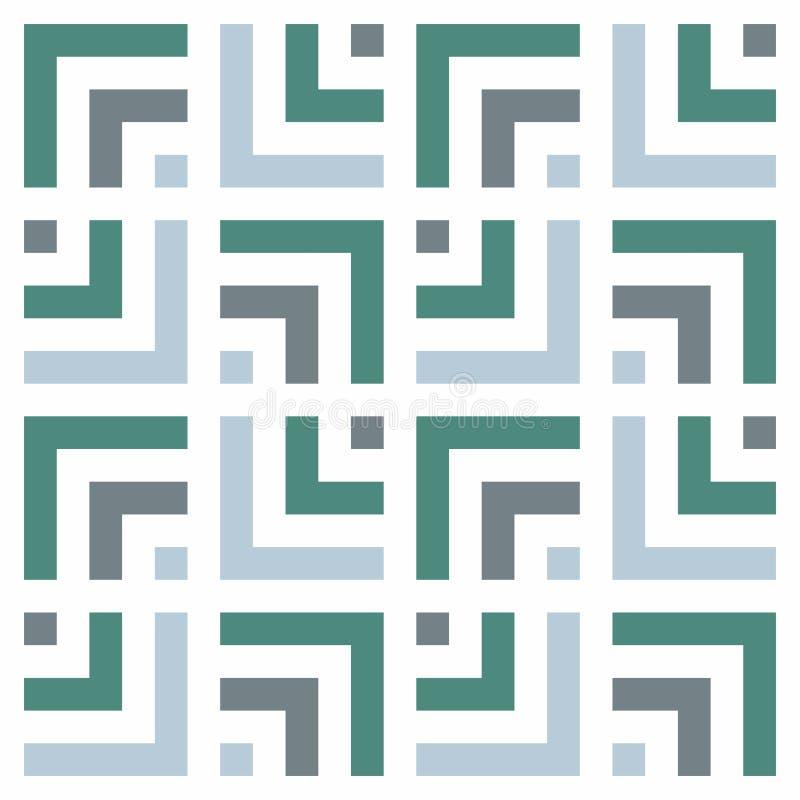 γεωμετρικό πρότυπο άνευ ραφής Απλό κανονικό υπόβαθρο Ήρεμοι τόνοι γεωμετρικό πρότυπο ελεύθερη απεικόνιση δικαιώματος