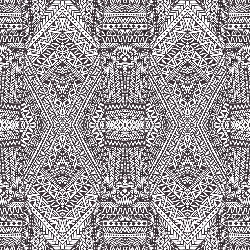 γεωμετρικό πρότυπο άνευ ραφής γκρίζο λευκό διακοσμήσ&eps Διανυσματικό illu διανυσματική απεικόνιση