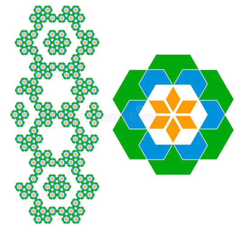 γεωμετρικό πρότυπο στοκ εικόνα με δικαίωμα ελεύθερης χρήσης