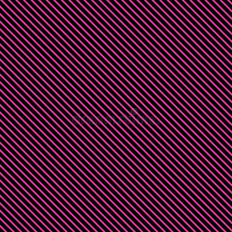 Γεωμετρικό ριγωτό σχέδιο με τις ρόδινες συνεχείς γραμμές στο μαύρο υπόβαθρο r διανυσματική απεικόνιση