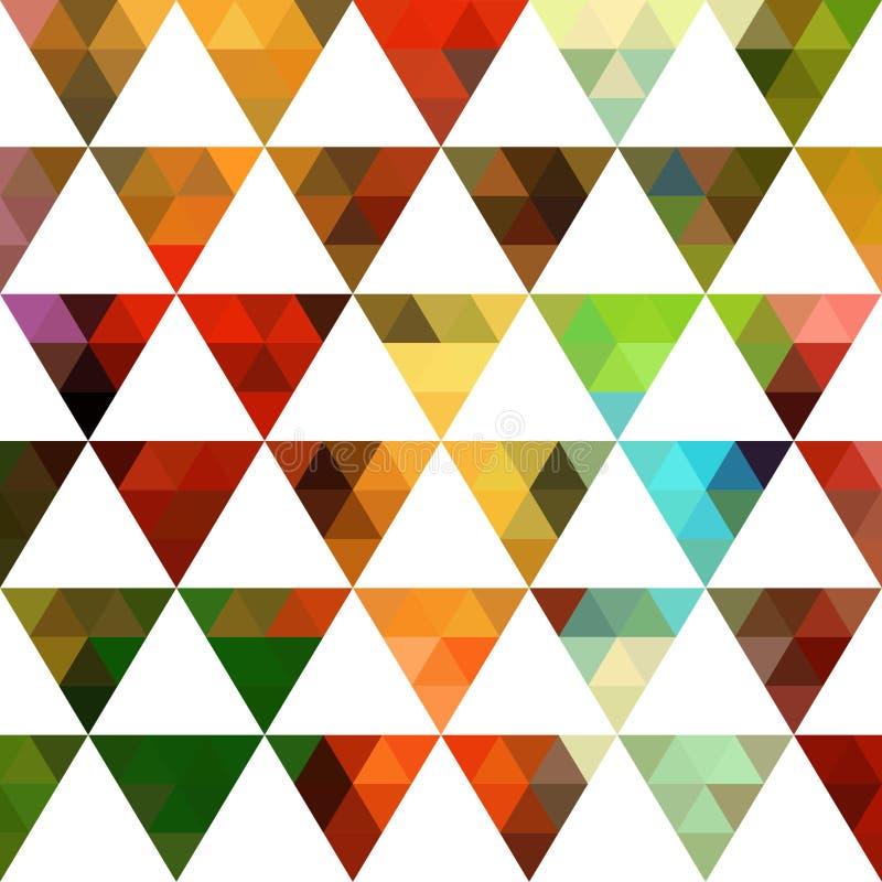 Γεωμετρικό σχέδιο των μορφών τριγώνων Ζωηρόχρωμο σκηνικό μωσαϊκών διανυσματική απεικόνιση