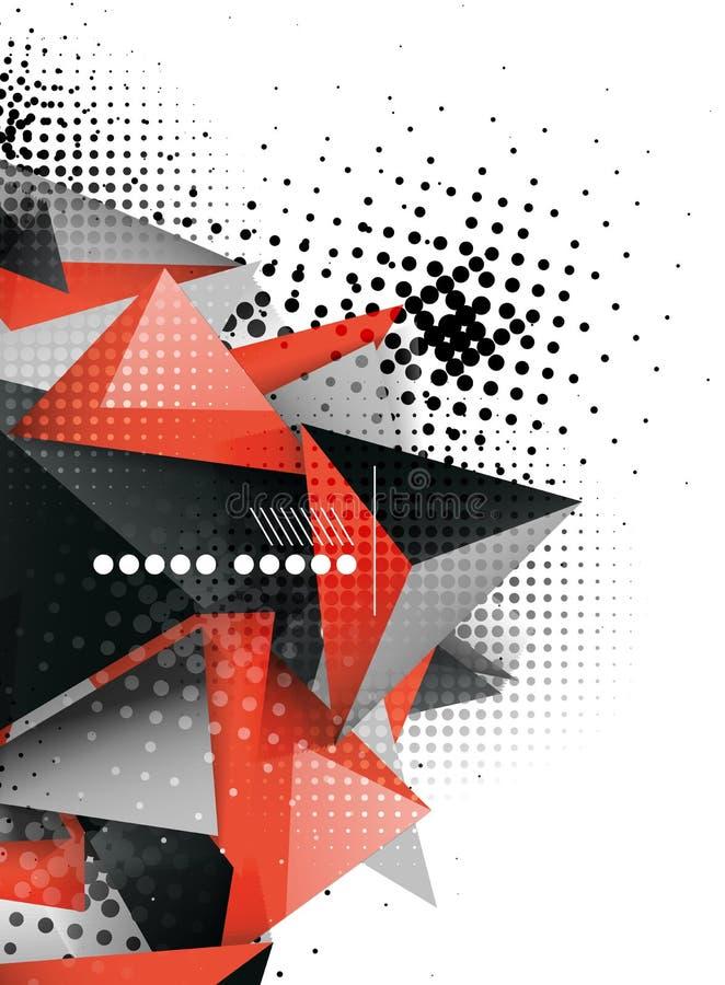 Γεωμετρικό τρισδιάστατο σχέδιο τριγώνων, αφηρημένο υπόβαθρο διανυσματική απεικόνιση