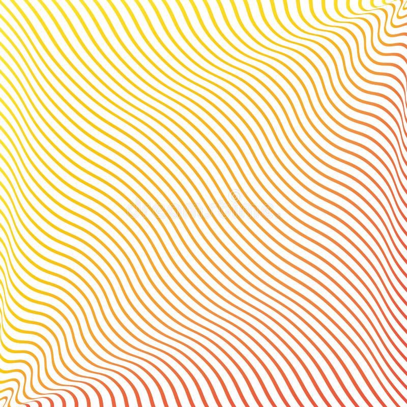 Γεωμετρικό υπόβαθρο με τις ζωηρόχρωμες κυματιστές συνεχείς γραμμές r ελεύθερη απεικόνιση δικαιώματος