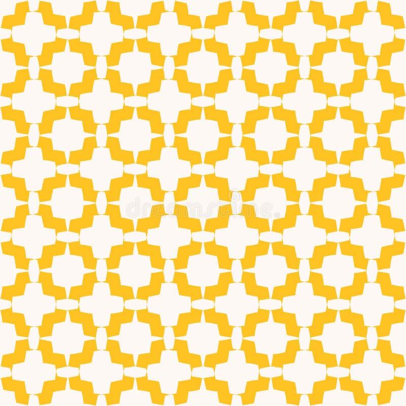 Γεωμετρικό floral άνευ ραφής σχέδιο Διανυσματική αφηρημένη σύσταση με τις κυρτές μορφές απεικόνιση αποθεμάτων