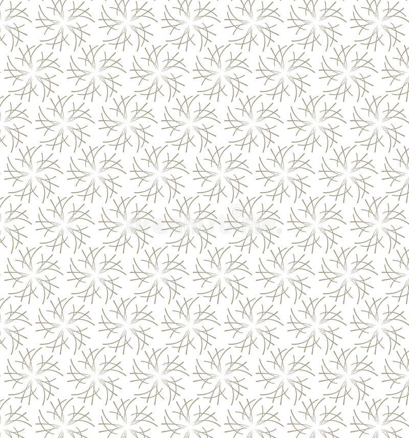 Γεωμετρικό floral άνευ ραφής σχέδιο φιαγμένο από γκρίζες γραμμές Μπορέστε να είστε χρήση απεικόνιση αποθεμάτων