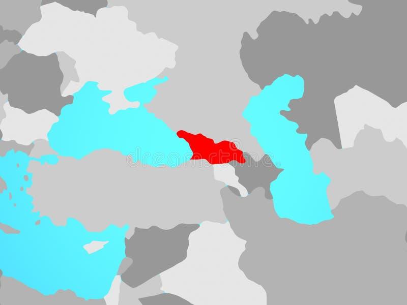 Γεωργία στο χάρτη ελεύθερη απεικόνιση δικαιώματος